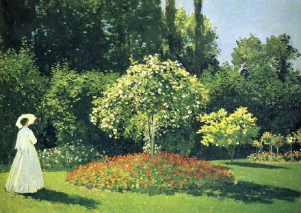 Monet, Claude: Jeanne Marie Lecadre in the Garden. Fine Art Print.  (003221)